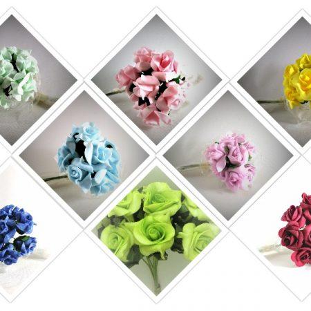 Trandafiri polifoam pitici 3 cm