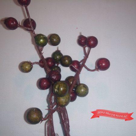 Creangă de crăciun cu fructe 28cm