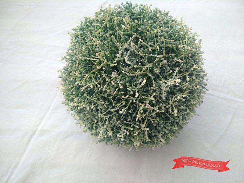 Glob de matase verde-alb D23cm -