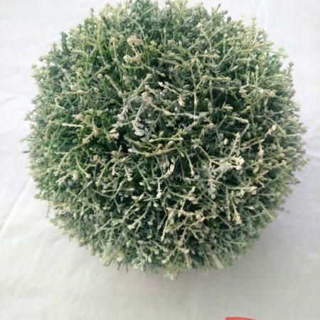 Glob de matase verde-alb D23cm