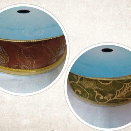 Panglică decorativă 4cm x 10cm