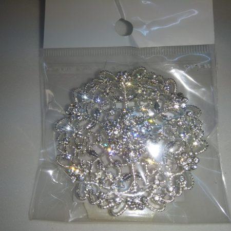 Bross Rozetta 5cm argintiu