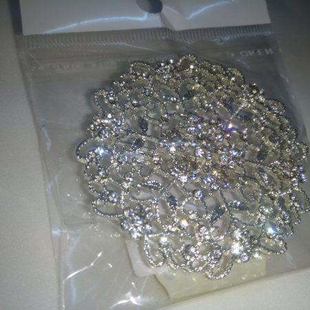 Brosa  5 cm argintie