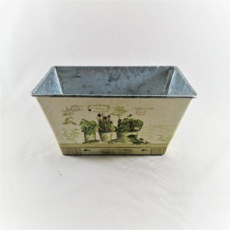 Caspo metalic patrat vintage 17x10x9cm -