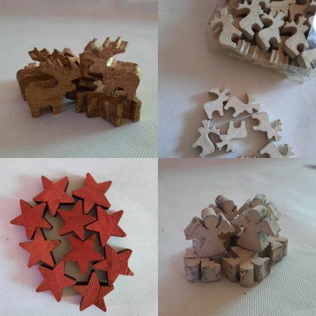 Figurine din lemn 1 x 2,5 cm
