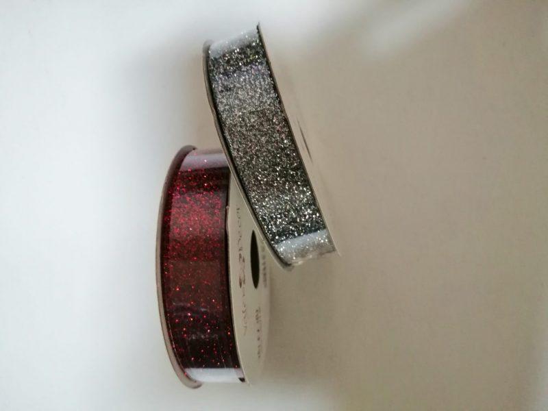 Panglică cu glitter 16mm*6,4m