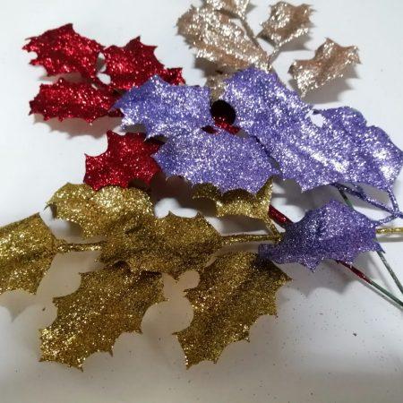 Frunza cu glitter 45 cm