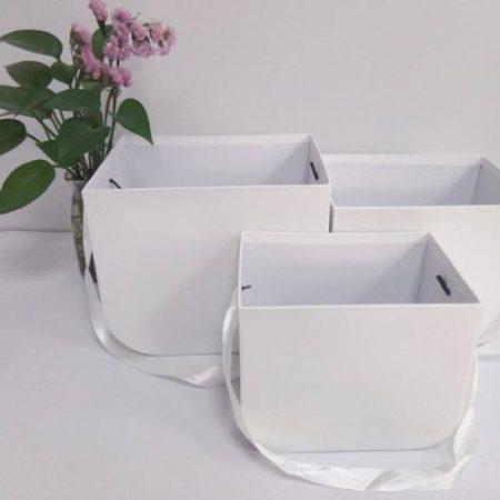 Cutii set 3 buc alb