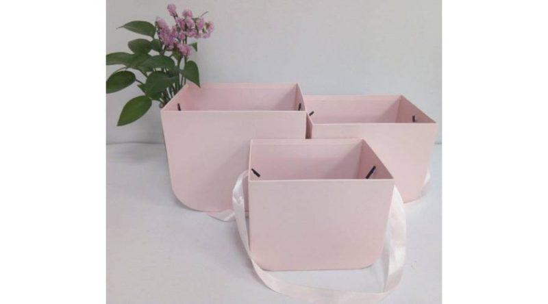 Cutii set 3 buc roz -