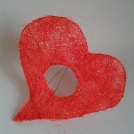 Suport buchet sisal-inima 20cm/25cm
