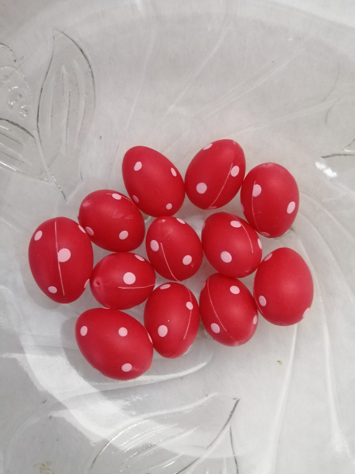 Set oua rosii 2.5x3cm