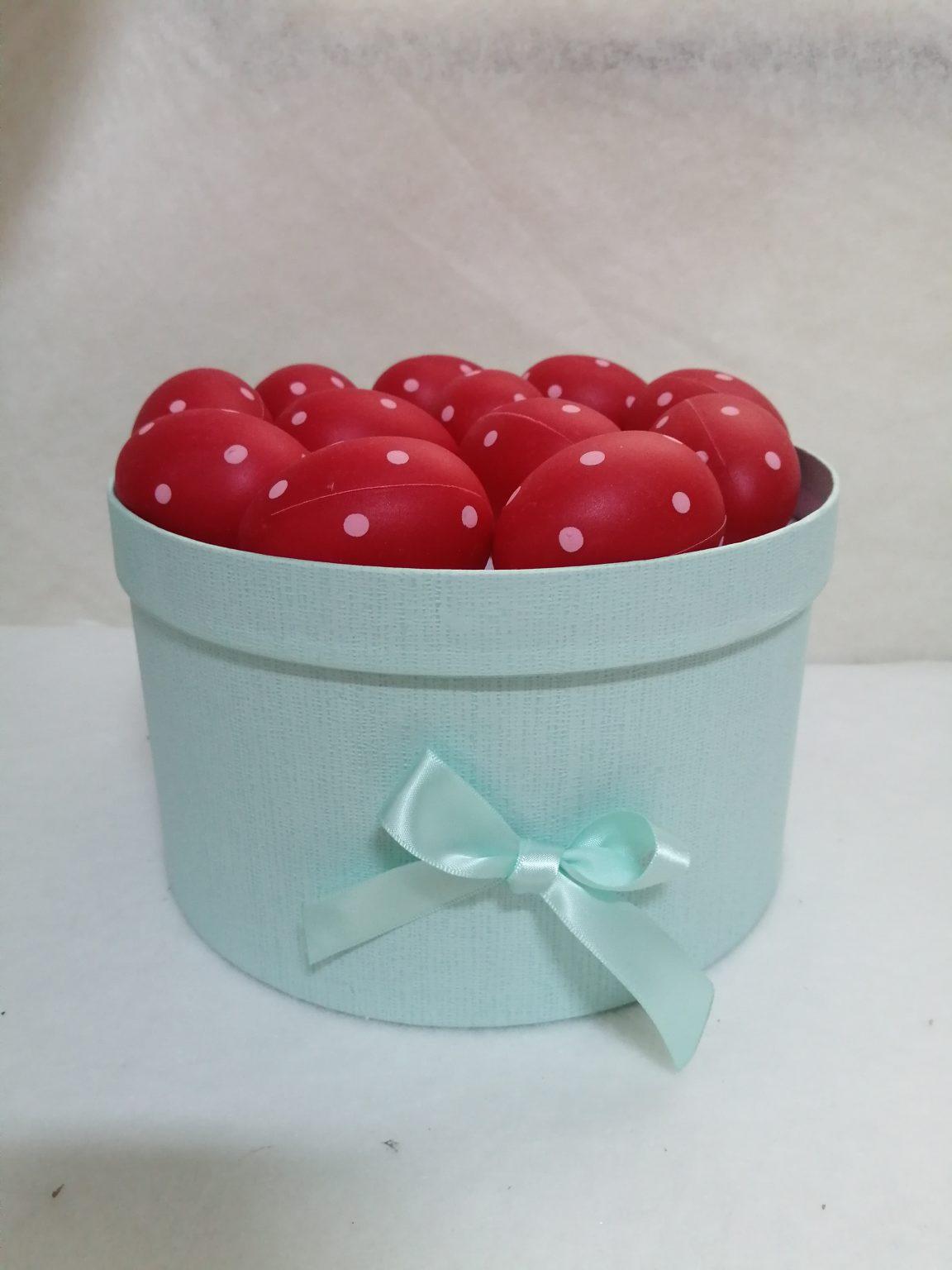 Set oua rosii 5x6cm -