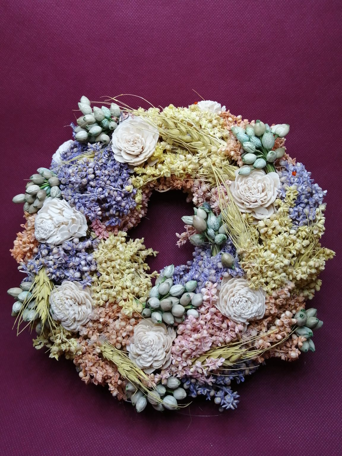 Coronita flori uscate 20cm
