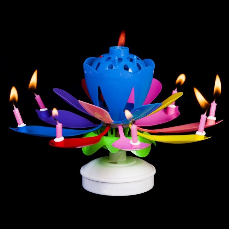 Lumanare muzicala Happy Birthday -
