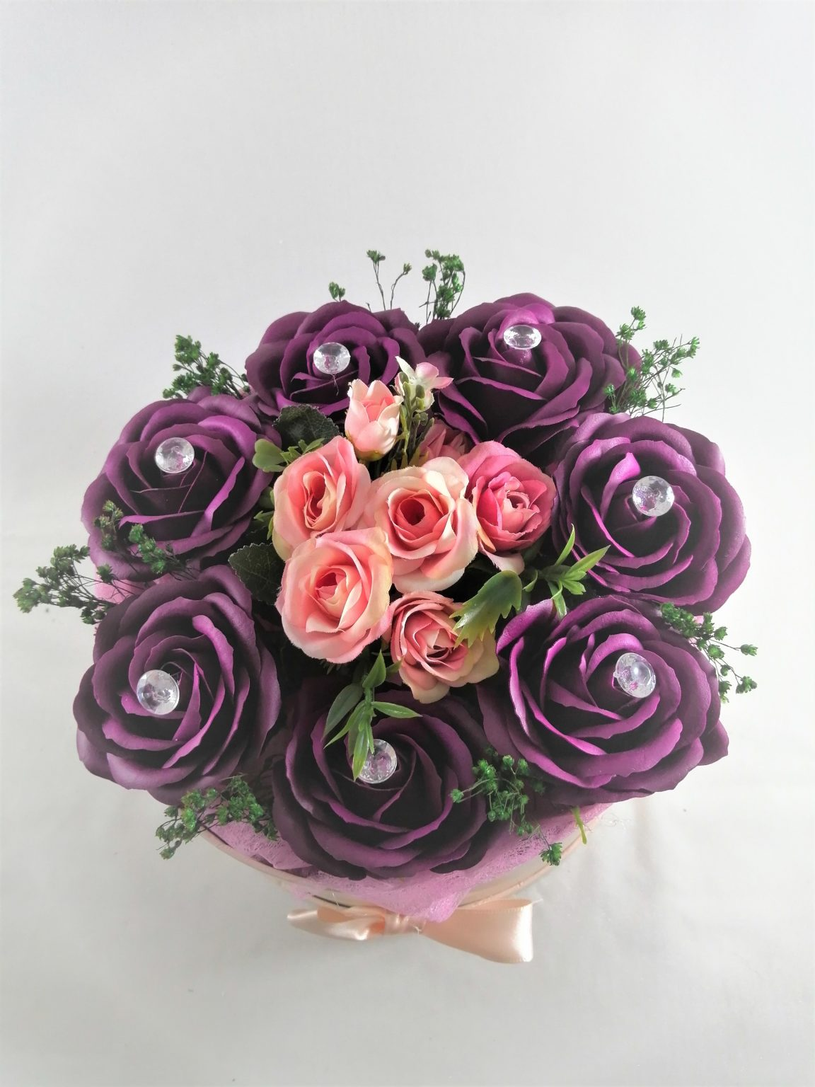 Aranjamente flori de sapun -