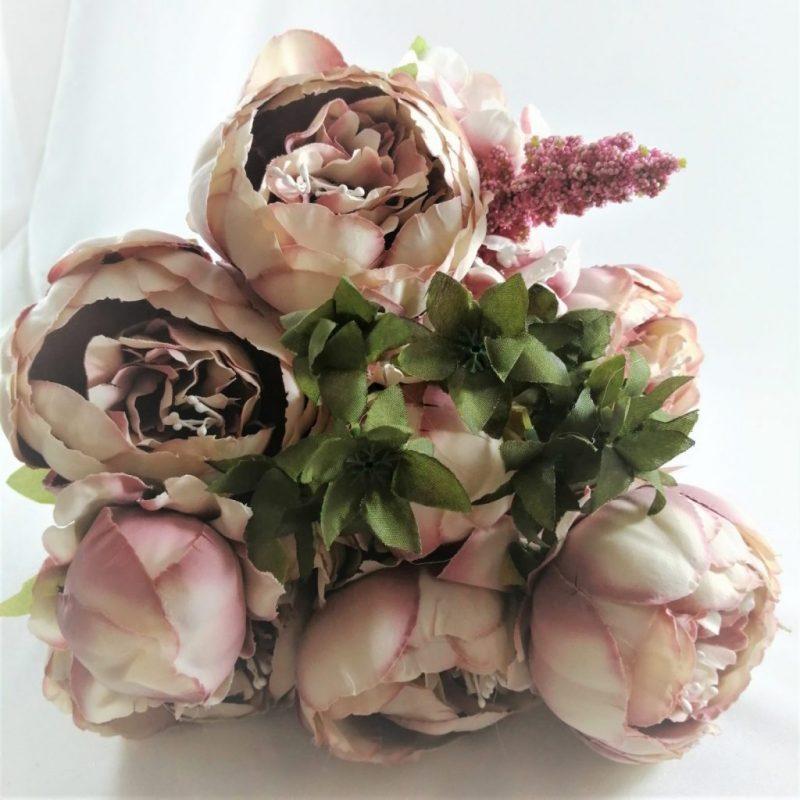 Buchet hortensie si peonia -