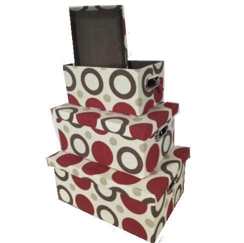 Set 3 cutii textile