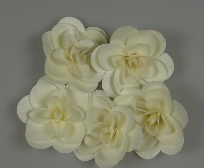 Capete de trandafir de lemn 5 buc