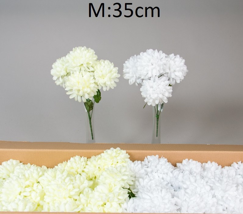 Buchet 5 crizanteme 35 cm -