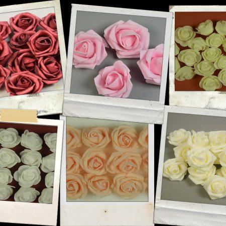 Capete trandafiri polifoam 1 pachet