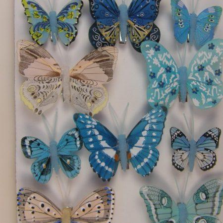 Fluturi cu cleme 5cm albastru