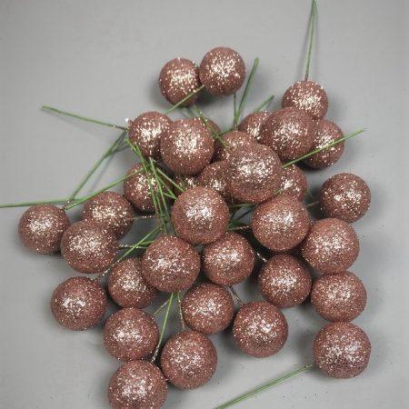 Pick globulete roz cu glitter 220 buc