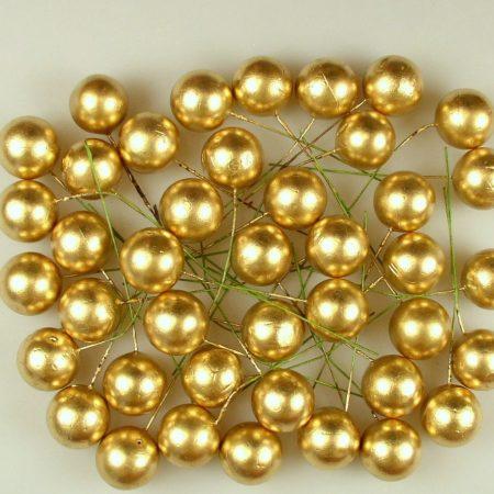 Pick globulete auriu 2 cm