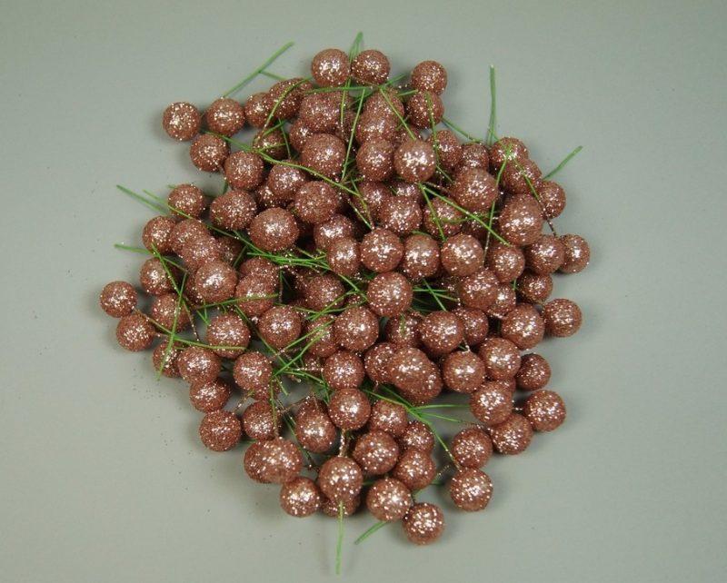 Pick globulete roz cu glitter2