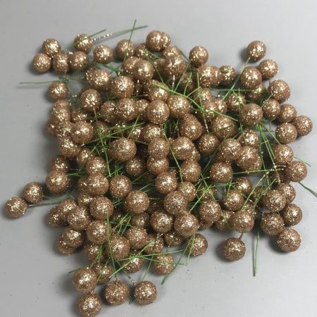 Pick globulete roze cu glitter2 60 buc/pachet