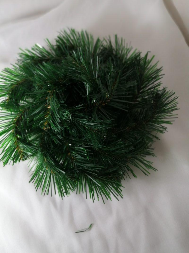 Suport plastic cu brad artificial 25 cm