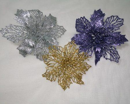 Decoratiune brad – Floare artificiala cu dantela
