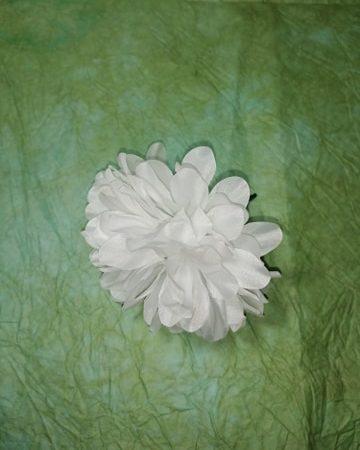 """Capete flori""""dalii mari""""12 cm alb"""