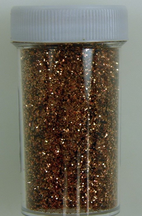Glitter de culoare bronz