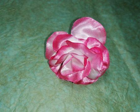 "Capete flori "" trandafir mic"" 7 cm roz/alb"