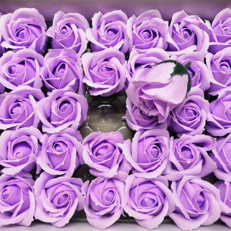 Trandafiri de sapun 5cm mov deschis