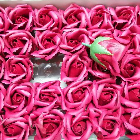 Trandafiri de sapun 5cm bordo