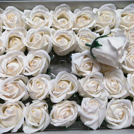 Trandafiri de sapun 5cm alb