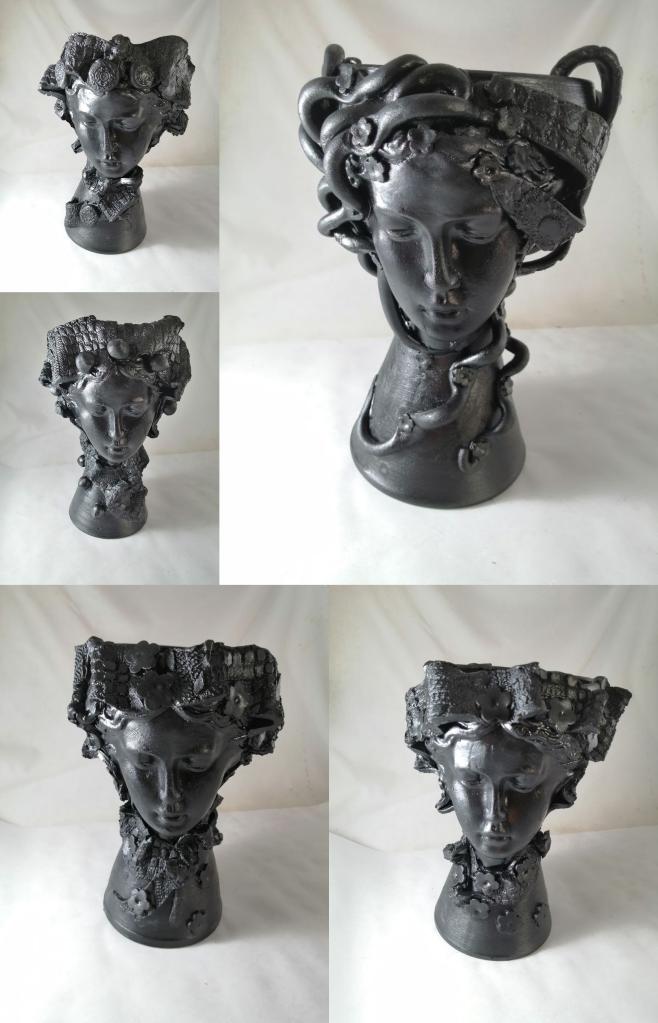 Vaza statuie zeita 25 cm