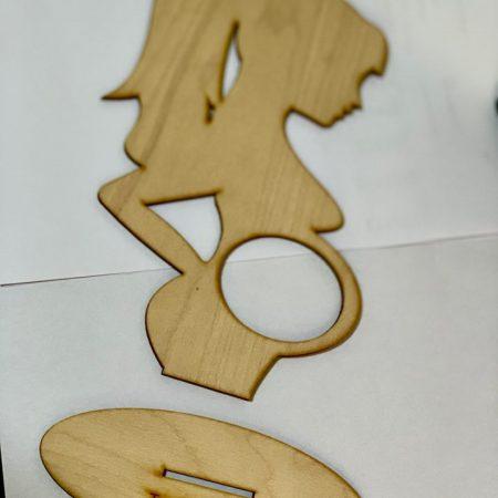 Rama foto din lemn pentru ecografie 16x 24,5cm
