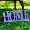"Decoratiune din lemn ""HOME"" 25x10 cm -"
