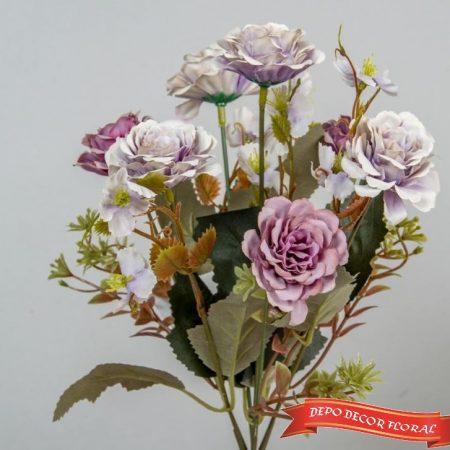 Buchet zinnia 7 flori