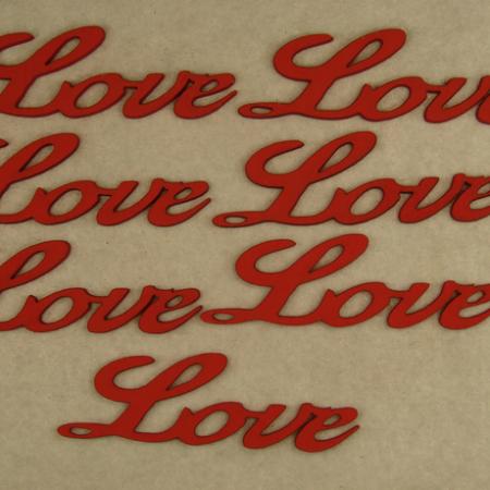 """Figurine din lemn """"LOVE"""" 7 buc"""
