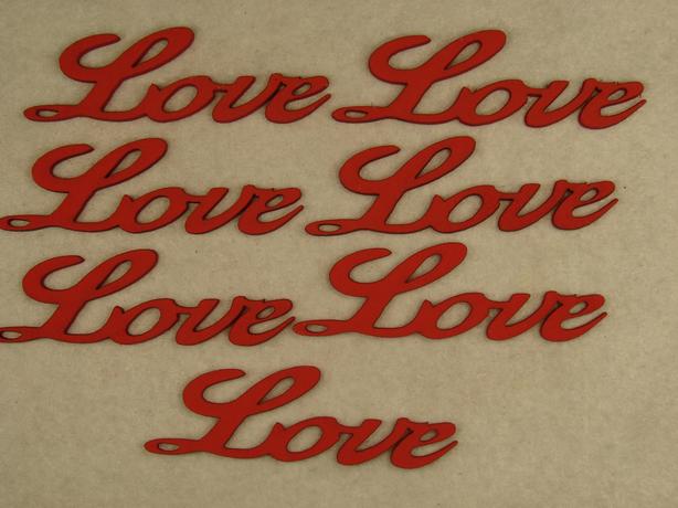 """Figurine din lemn """"LOVE"""" 7 buc -"""