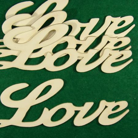 """Figurine din lemn """"Love"""" 4 buc"""