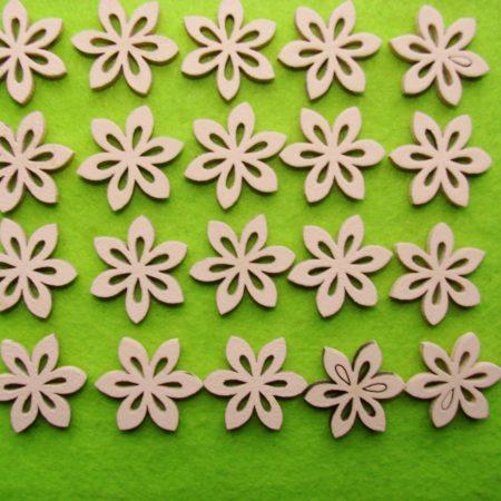 Figurine din lemn – floricele 20 buc