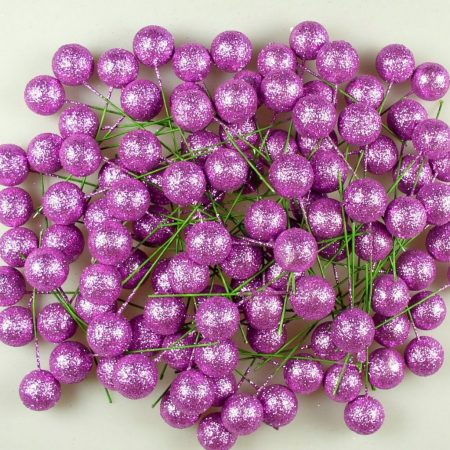Pick globulete 2 cm lila&glitter