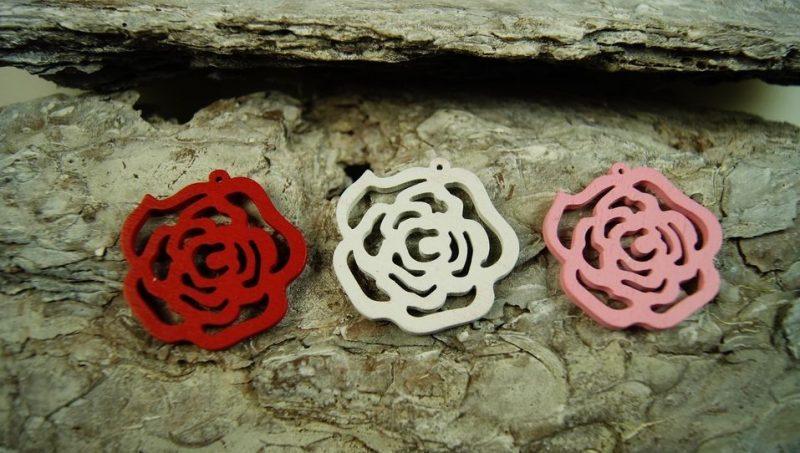 Trandafiri din lemn 3,5 cm