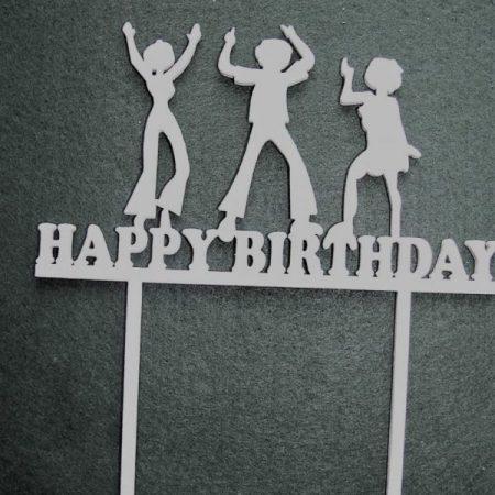 Topper pentru tort HappyBirthday 1buc