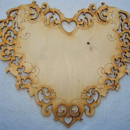 Inima din lemn 1buc