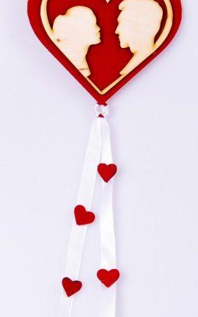 Inima din lemn decorativa 14×50 cm